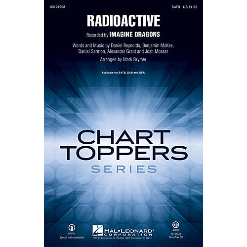 Hal Leonard Radioactive ShowTrax CD by Imagine Dragons Arranged by Mark Brymer-thumbnail