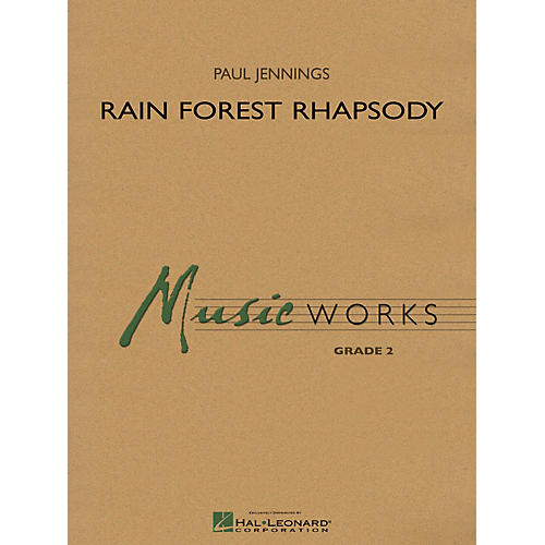 Hal Leonard Rain Forest Rhapsody Concert Band Level 2 Composed by Paul Jennings-thumbnail