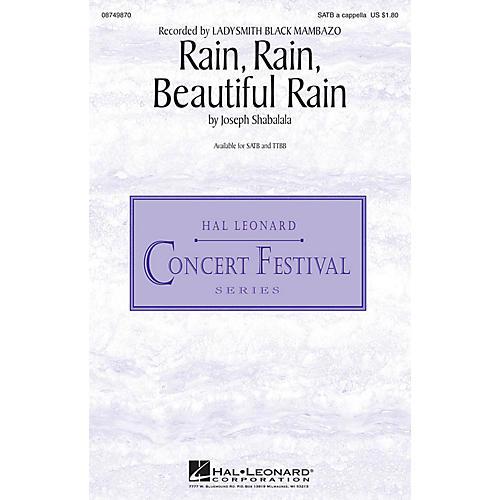 Hal Leonard Rain, Rain, Beautiful Rain SATB a cappella by Ladysmith Black Mambazo composed by Joseph Shabalala