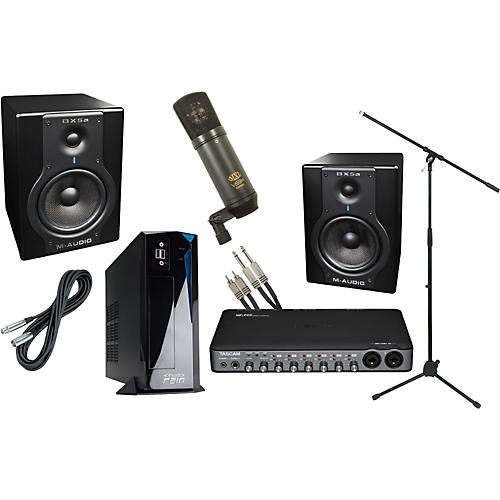 rain computers rainpak computer recording package with m audio bx5a and tascam us800 musician. Black Bedroom Furniture Sets. Home Design Ideas