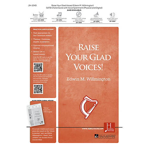 Jubal House Publications Raise Your Glad Voices! ORCHESTRA ACCOMPANIMENT Composed by Edwin M. Willmington-thumbnail