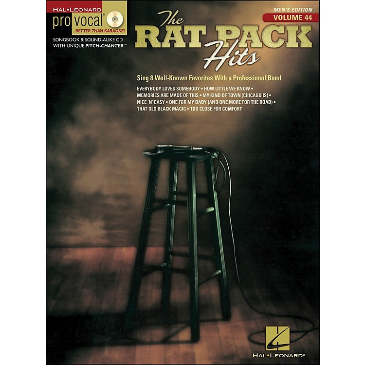 Hal LeonardRat Pack Hits Pro Vocal Songbook & CD for Male Singers Volume 44