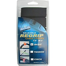 American Recorder Technologies ReGrip Reusable Cable Strap 6-Pack 8 In Basic Style Black