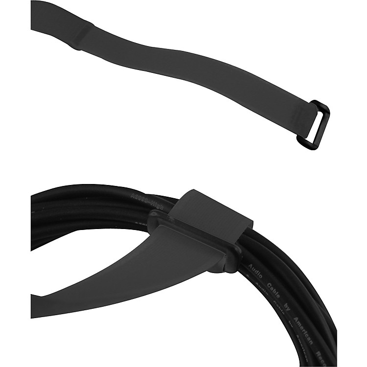 American Recorder Technologies ReGrip Reusable Cable Strap 6-Pack 8 In Cinch Style Black