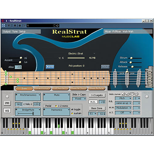 MusicLab RealStrat sample-based virtual instrument