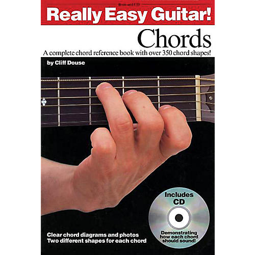 Music Sales Really Easy Guitar! - Chords Music Sales America Series Softcover with CD Written by Cliff Douse-thumbnail