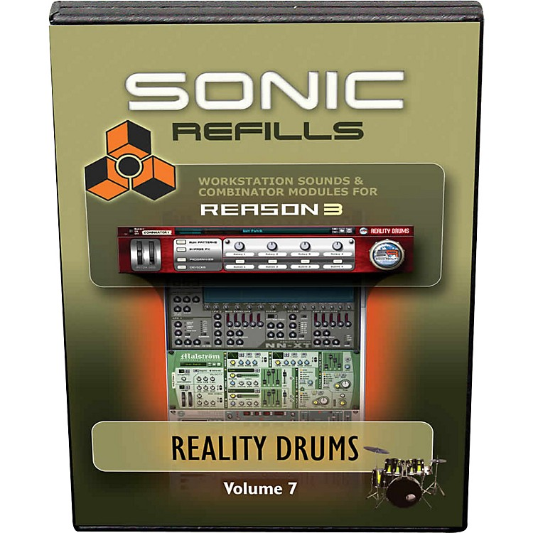 Sonic Reality Reason 3 Refills Vol. 07: Reality Drums