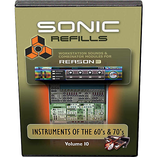 Sonic Reality Reason 3 Refills Vol. 10: Instruments of the '60s and '70s