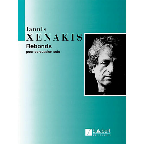 Editions Salabert Rebonds Part A and Part B for Percussion (1987-1989) Marching Band Percussion Series by Iannis Xenakis-thumbnail