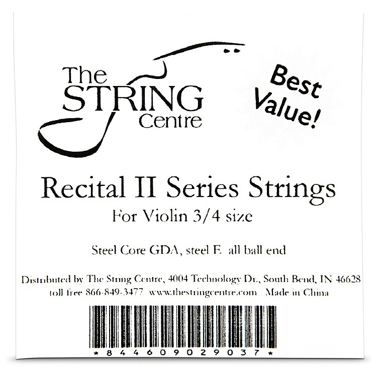 The String Centre Recital II Violin String set 3/4 Size