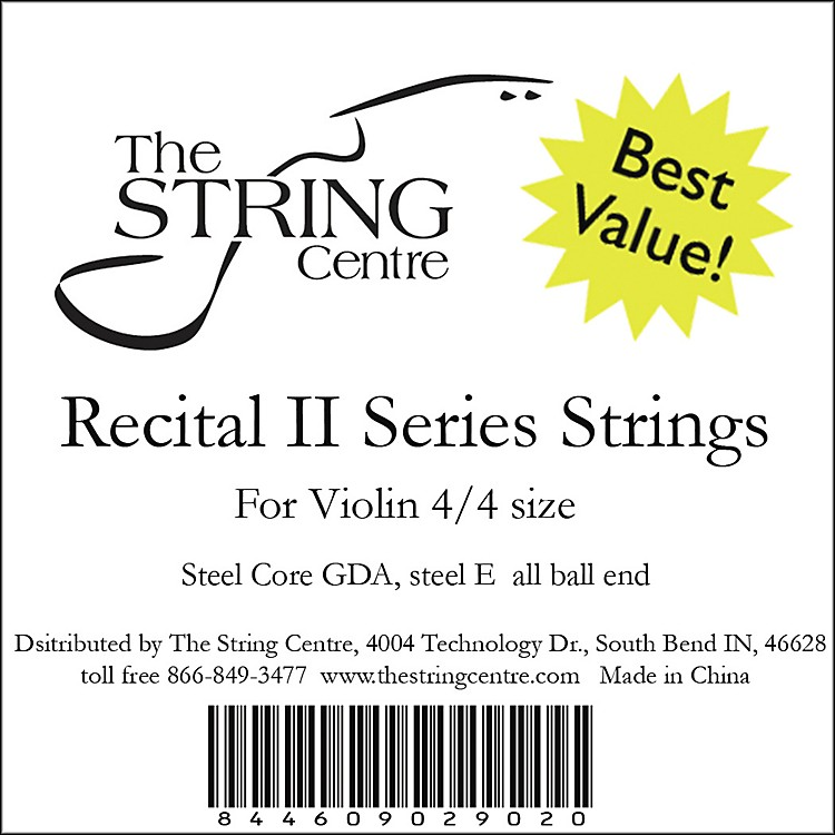 The String Centre Recital II Violin String set 4/4 Size
