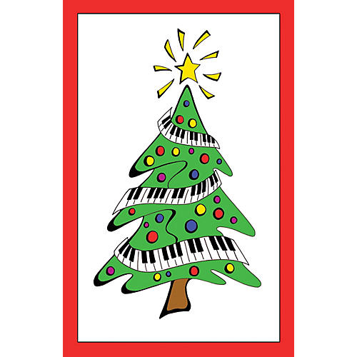 SCHAUM Recital Program #38 - Keyboard Christmas Tree Educational Piano Series Softcover-thumbnail