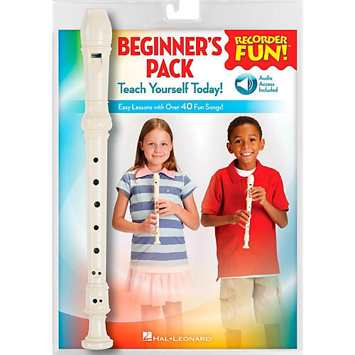 Hal Leonard Recorder Fun! Beginner's Pack Book/Online Audio/Instrument-thumbnail