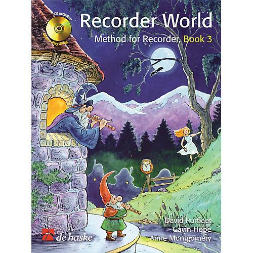 De Haske Music Recorder World - Book 3 (Method for Recorder) De Haske Play-Along Book Series Written by David Purfleet-thumbnail