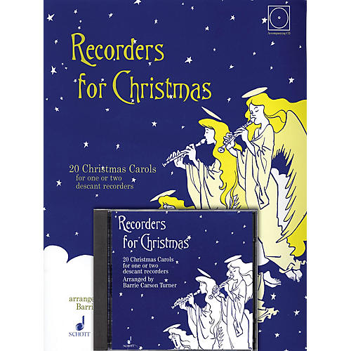 Schott Recorders for Christmas (20 Christmas Carols for One or Two Recorders) Schott Series Softcover with CD-thumbnail