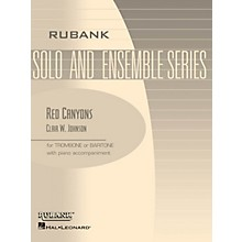 Rubank Publications Red Canyons (Trombone/Baritone (B.C. or T.C.) with Piano - Grade 2) Rubank Solo/Ensemble Sheet Series