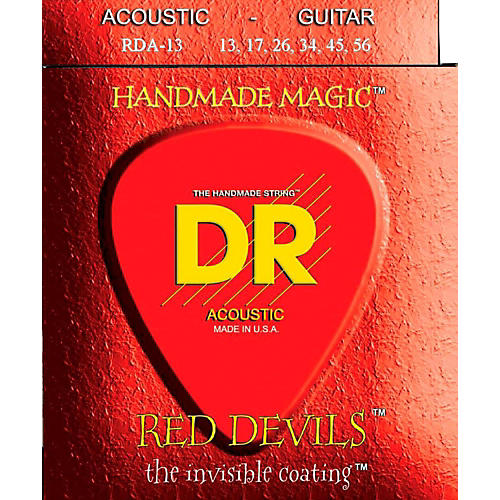 DR Strings Red Devils Heavy Acoustic Guitar Strings-thumbnail
