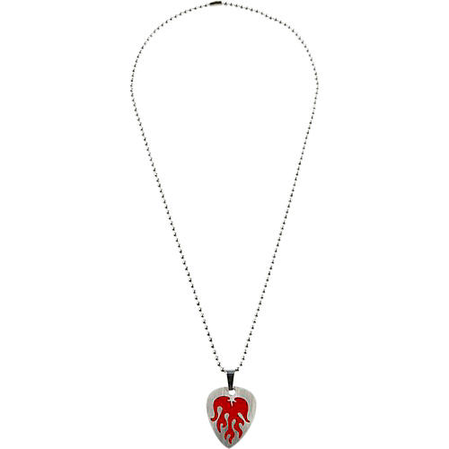 Clayton Red Flame Guitar Pick Necklace
