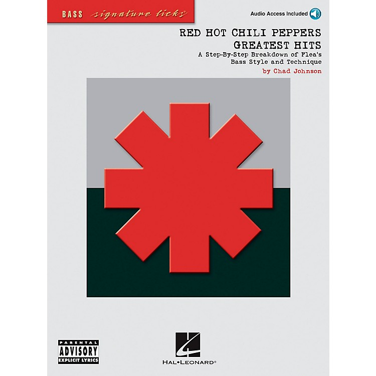 Hal Leonard Red Hot Chili Peppers Greatest Hits Bass Guitar Signature Licks Book with CD