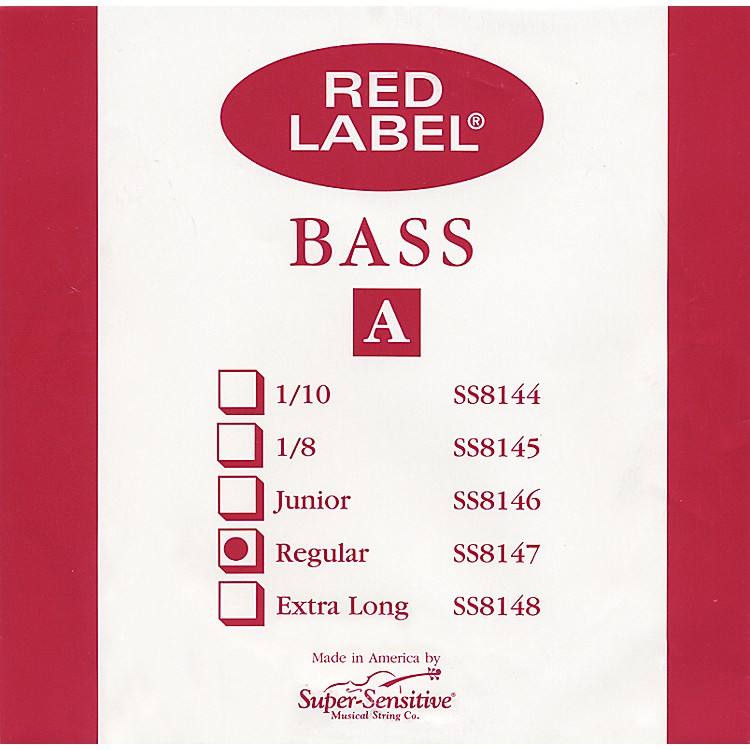 Super SensitiveRed Label 3/4 Size Double Bass Strings3/4A String