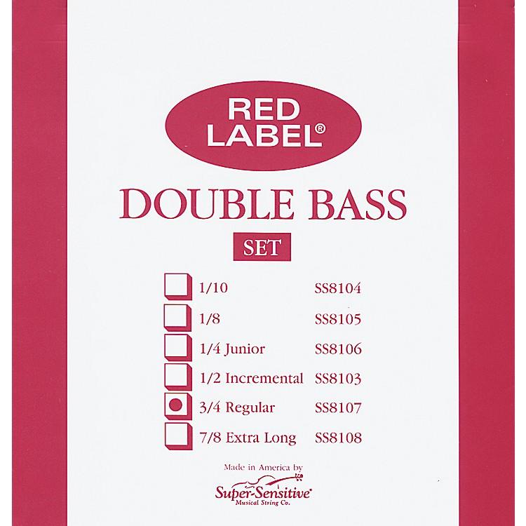 Super SensitiveRed Label 3/4 Size Double Bass Strings3/4Set