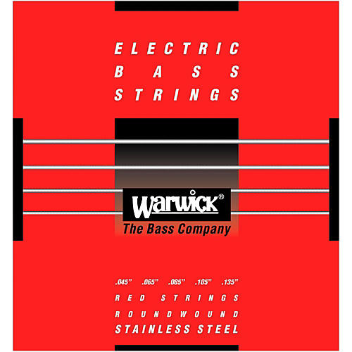 Warwick Red Label 5-String M Low B Stainless Steel Bass Strings-thumbnail