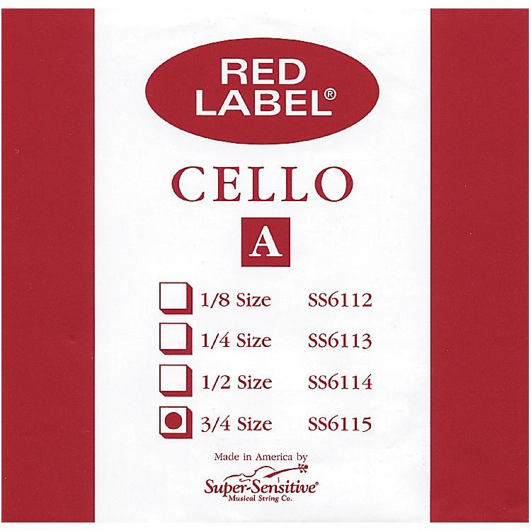 Super SensitiveRed Label Cello A String3/4