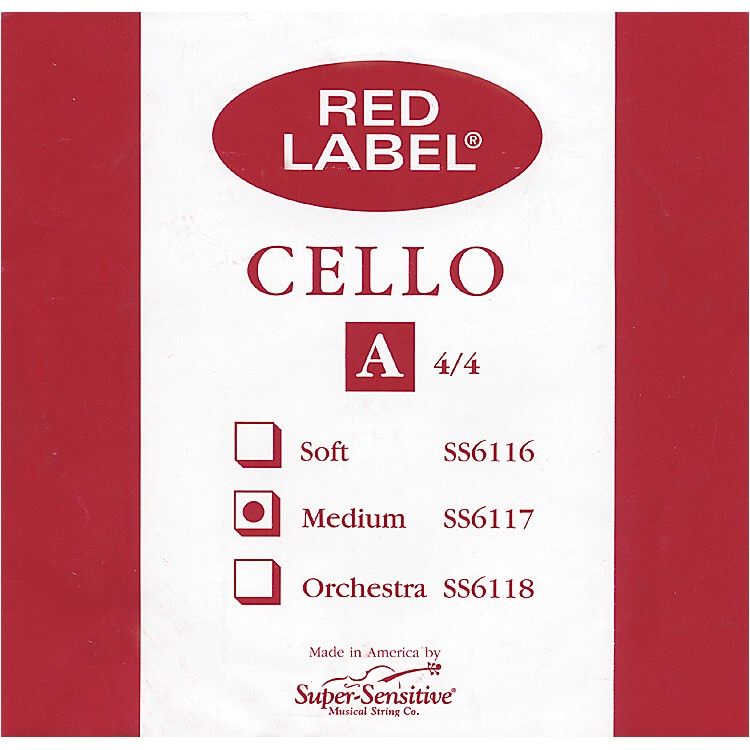 Super Sensitive Red Label Cello A String  4/4