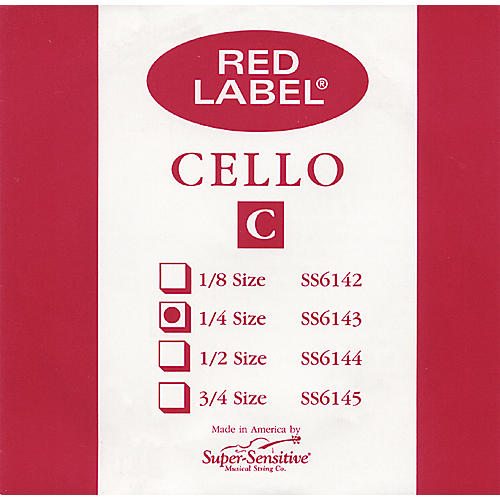 Super Sensitive Red Label Cello C String