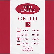 Super Sensitive Red Label Cello D String 1/2