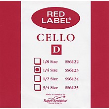 Super Sensitive Red Label Cello D String 1/4