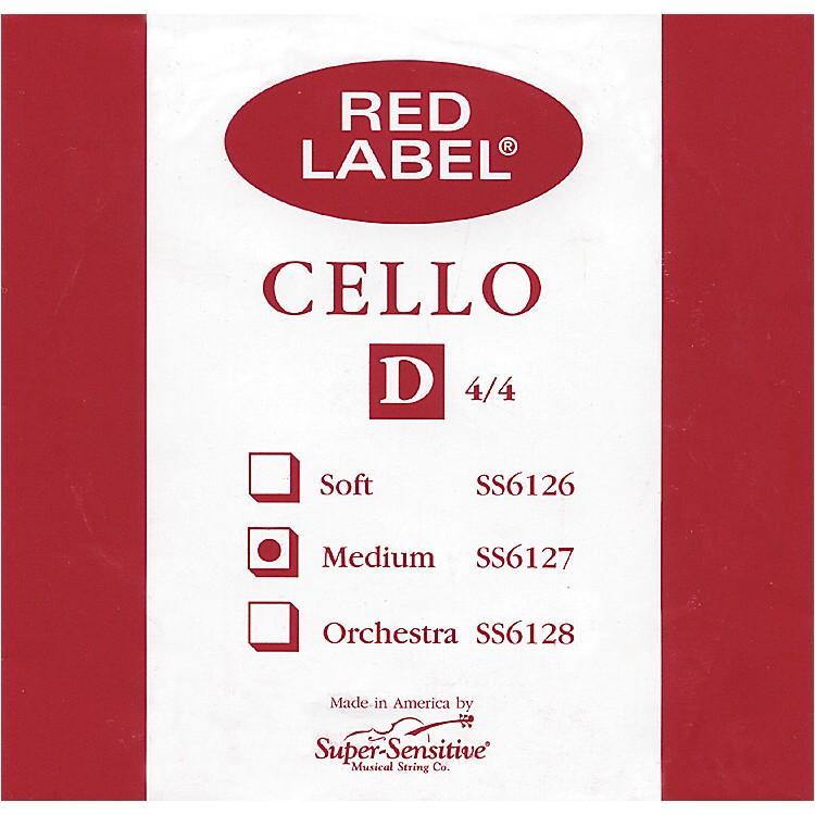 Super SensitiveRed Label Cello D String1/2