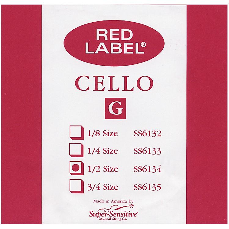 Super SensitiveRed Label Cello G String1/2
