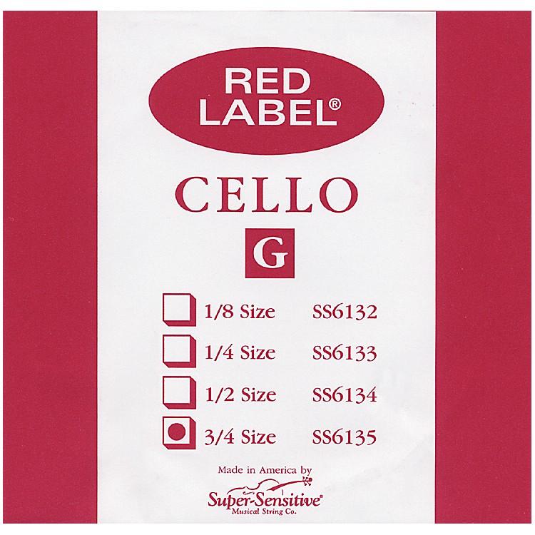 Super SensitiveRed Label Cello G String3/4