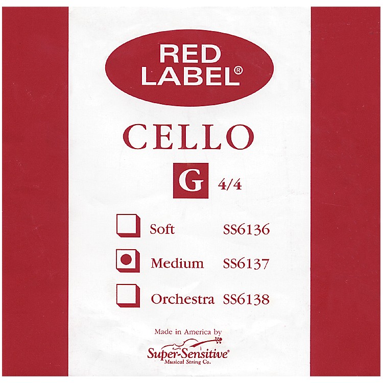 Super Sensitive Red Label Cello G String  4/4