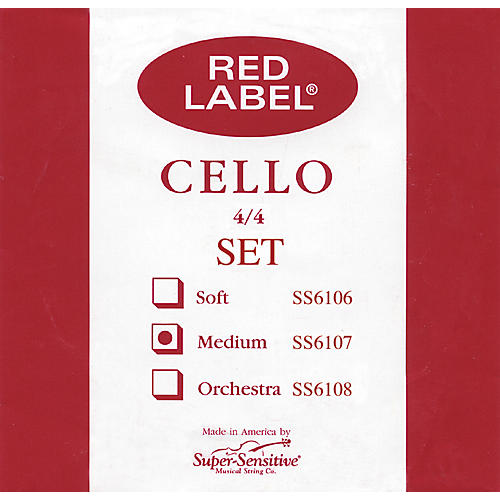 Super Sensitive Red Label Cello String Set  4/4