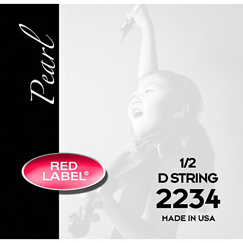 Super Sensitive Red Label Pearl Nylon Core Violin D String 1/2 Size-thumbnail