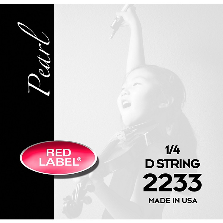 Super Sensitive Red Label Pearl Nylon Core Violin D String 1/2 Size