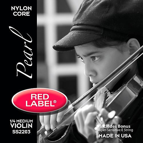 Super Sensitive Red Label Pearl Nylon Core Violin String Set-thumbnail