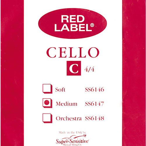 Super Sensitive Red Label Series Cello Strings-thumbnail