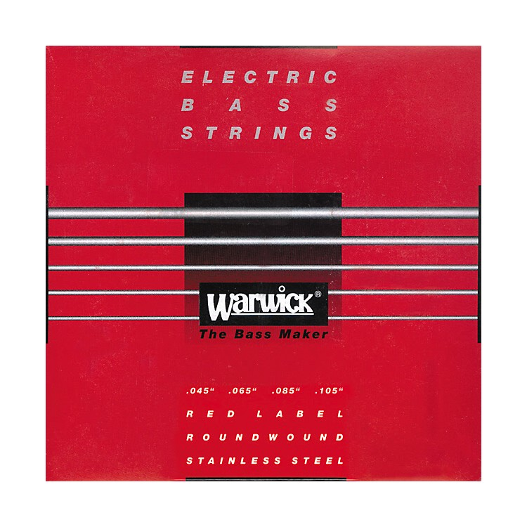 WarwickRed Label Stainless Wound Medium 4-String Bass Strings