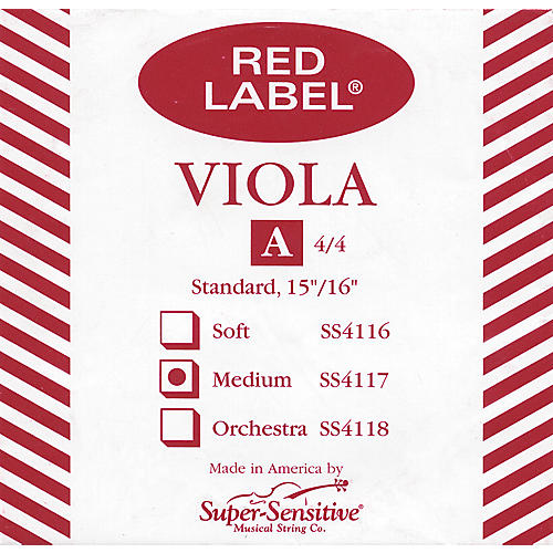Super Sensitive Red Label Viola A String  Full