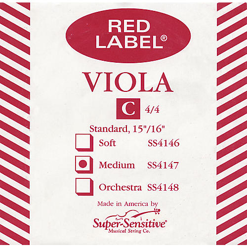 Super Sensitive Red Label Viola C String  Full
