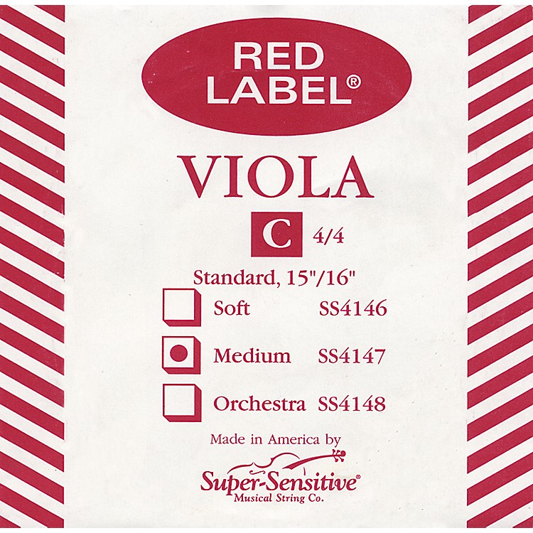 Super Sensitive Red Label Viola C String  Junior