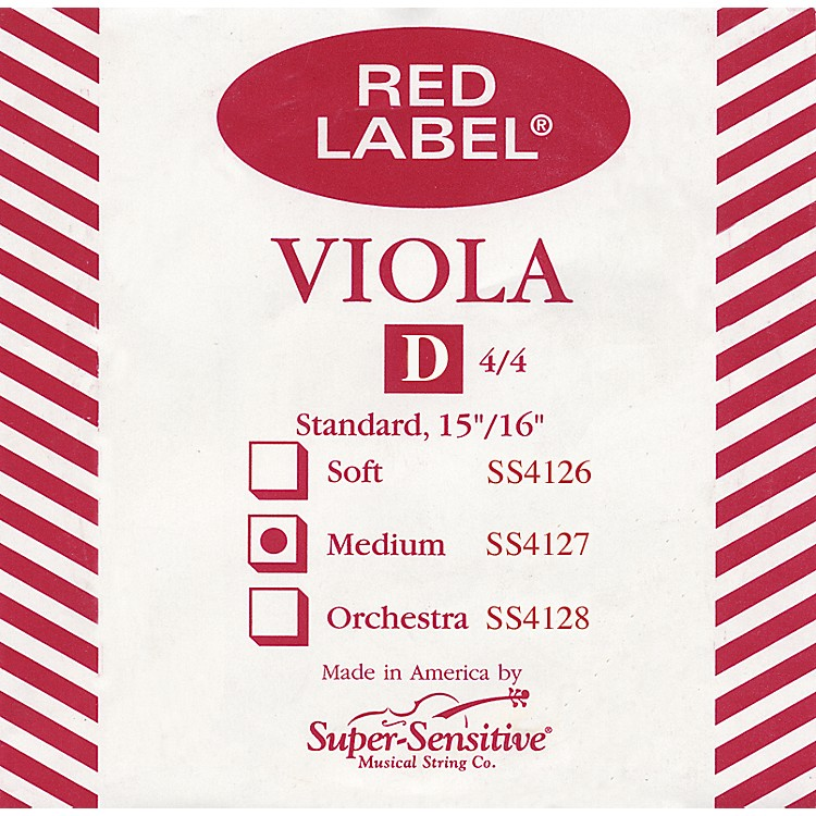 Super Sensitive Red Label Viola D String  Full