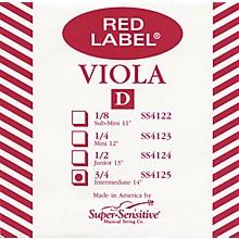 Super Sensitive Red Label Viola D String Intermediate