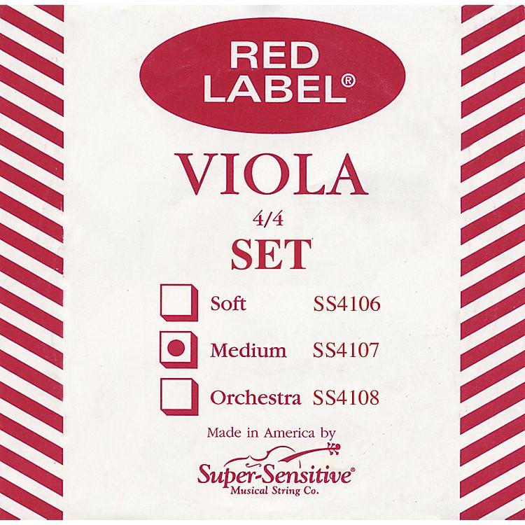 Super SensitiveRed Label Viola String SetFull