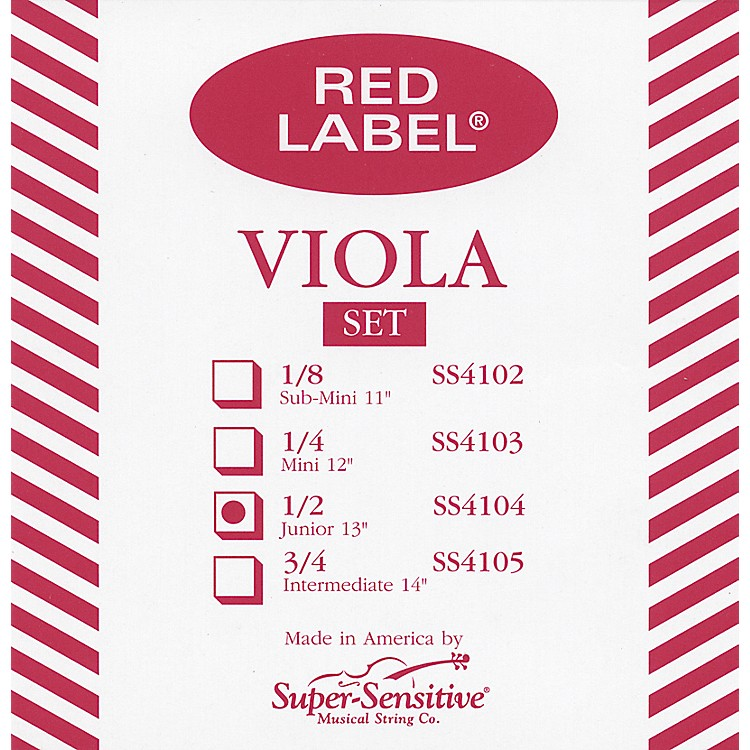 Super SensitiveRed Label Viola String SetJunior