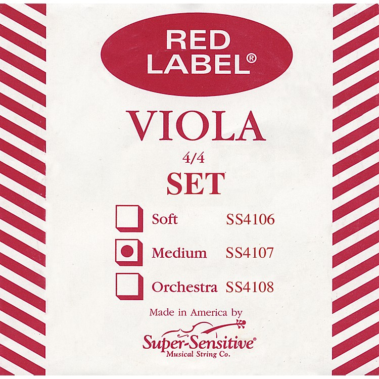 Super Sensitive Red Label Viola String Set Sub-Mini (11 IN)