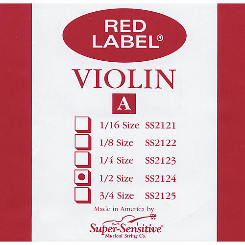 Super Sensitive Red Label Violin A String  1/2